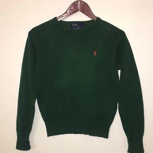 Boys Polo Ralph Lauren Forest Green Knit Sweater